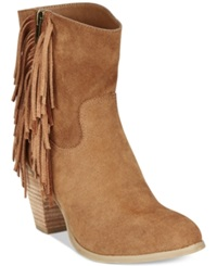 Rampage Sugar Tuko Fringe Booties Women's Shoes