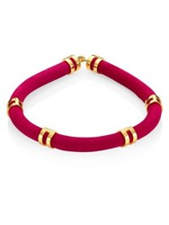 Lizzie Fortunato Double Take Suede Tube Necklace Pink