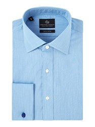 Chester Barrie Men's Contemporary Eoe Shirt Blue