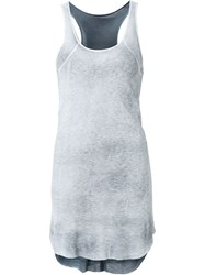Avant Toi Long Rib Tank Top Grey
