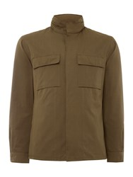 Peter Werth Curtis Field Jacket With Stowaway Hood Olive