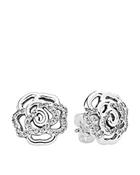 Pandora Design Pandora Earrings Sterling Silver And Cubic Zirconia Shimmering Rose Studs