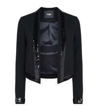 Maje Vanilla Sequin Jacket Female Black