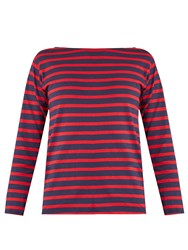 Saint Laurent Striped Cotton T Shirt Navy Stripe