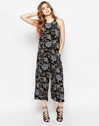 Jdy Boho Printed Jumpsuit Carnival Bloom Dark Black