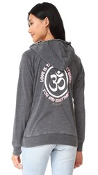 Spiritual Gangster Love Is The Bridge Dharma Zip Hoodie Vintage Black