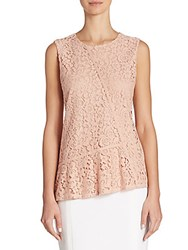 Hugo Boss Etopaly Jersey And Lace Top Light Pink