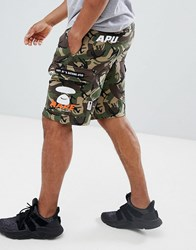 Aape By A Bathing Ape Cargo Shorts In Camo Green
