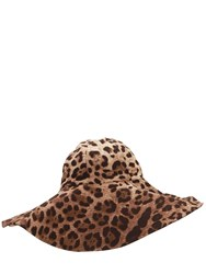 Dolce And Gabbana Leopard Stretch Cady Hat Multicolor