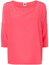 M Missoni Cropped Sleeve Blouse Pink