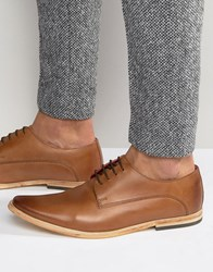 Base London Cashe Leather Derby Shoes Tan