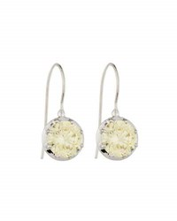 Fantasia Cz Round Cut Canary Dangle And Drop Earrings