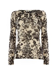 Part Two Feminine Floral Print Blouse Green