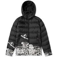 Valentino X Undercover Time Traveller Hooded Down Jacket Black