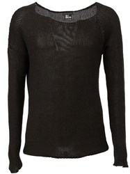 Lost And Found Low Neck Sweater Black