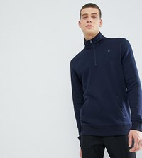 French Connection Tall Half Zip Sweat Navy