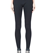 Rick Owens Ribbed Leggings Black