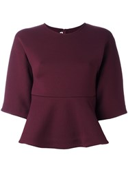 Mcq By Alexander Mcqueen Peplum Top Pink Purple
