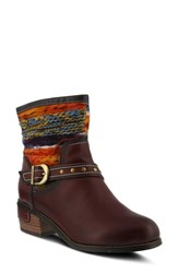 L'artiste Gaetana Boot Mahogany Leather