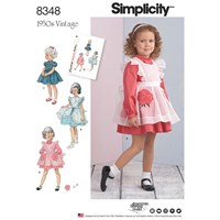 Simplicity Children's 1950'S Vintage Dresses Sewing Pattern 8348 A