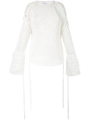 Irene Chunky Knit Jumper White