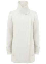 Mint Velvet Textured Winter White Pea Coat White