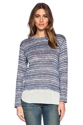 Bcbgeneration Long Sleeve Knit Top Blue