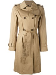 Alberto Biani Belted Trench Coat Nude Neutrals