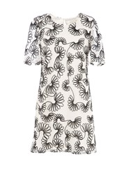 Lavand Floral Print Dress Winter White