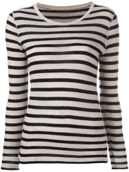 Majestic Filatures Striped Jumper Black