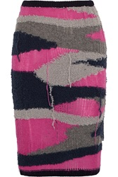 Sibling Distressed Knitted Pencil Skirt