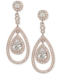 Anne Klein Gold Tone Crystal Orbital Drop Earrings
