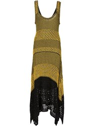 Proenza Schouler Knitted Tank Dress Yellow And Orange