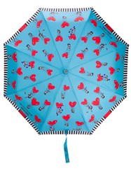 Moschino Heart Air Balloon Umbrella Blue