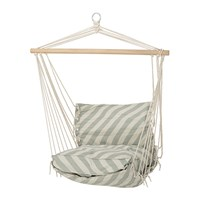 Bloomingville Green Stripe Cotton Hammock Chair