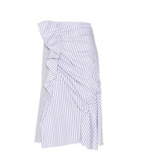 J.W.Anderson Striped Cotton Skirt White