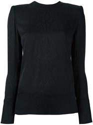 Balmain Paisley Detail Blouse Black