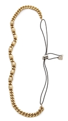 Lelet Ny Sandra Stud And Chain Headwrap Gold