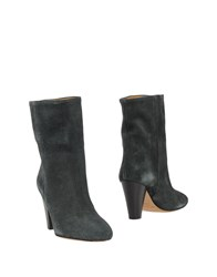 Etoile Isabel Marant Ankle Boots Dark Green