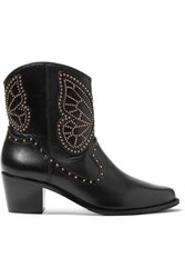Sophia Webster Shelby Studded Leather Ankle Boots Black