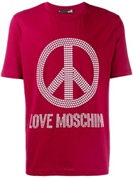 Love Moschino Peace And T Shirt Red