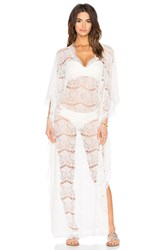 Queen And Pawn Sicily Lace Long Kaftan White