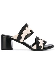 Sartore Wavy Effect Sandals Women Calf Leather Leather 37.5 Black