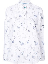 Paul Smith Ps By Sketchbook Conversational Printed Shirt White
