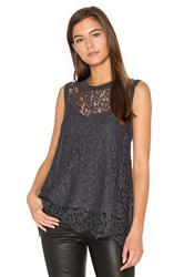 Generation Love Nia Lace Tank Charcoal
