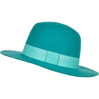 River Island Womens Blue High Crown Fedora Hat