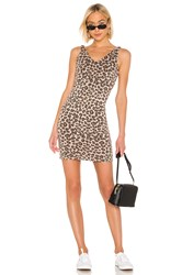 Monrow Leopard V Dress Brown