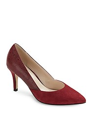 Cole Haan Leather Point Toe Stiletto Pumps Red