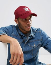 Adidas Originals Trefoil Cap In Red Cd8804