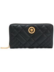 Versace Tribute Quilted Wallet Black